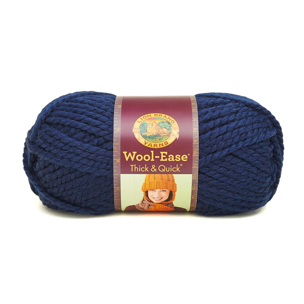 Lion Brand Wool-Ease Thick & Quick Yarn (110) Navy