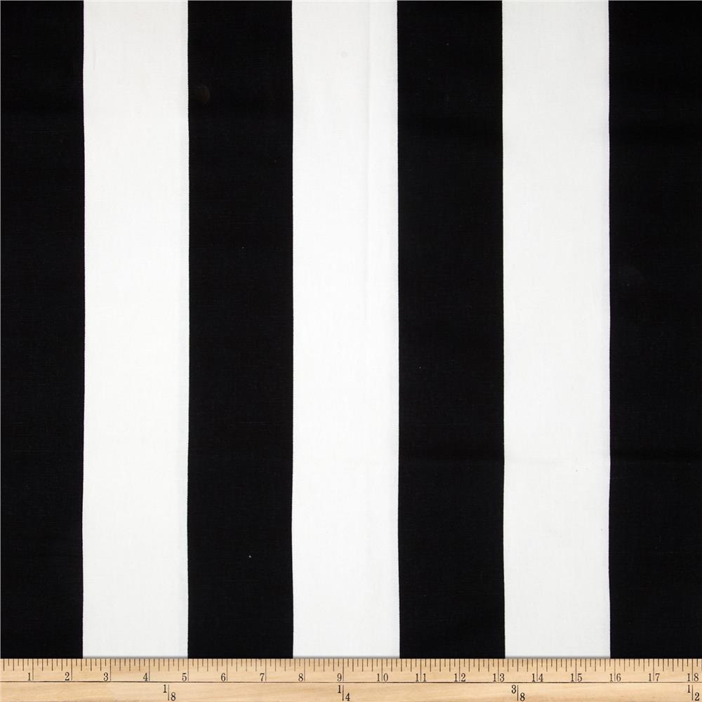 Premier Prints Vertical Stripe Black White Discount Designer Fabric
