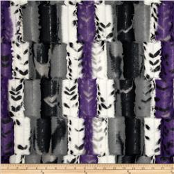 Minky Fancy Leopard Soft Cuddle Amethyst/Black Fabric