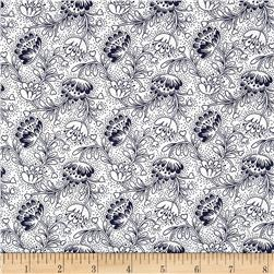 Dear Stella Emerson Filigree White Fabric
