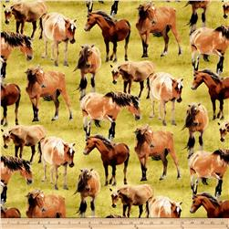 Greener Pastures Horses Allover Green