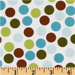 Remix Dots Brown/Aqua/White Fabric