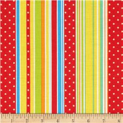 ABC Safari Stripe Red