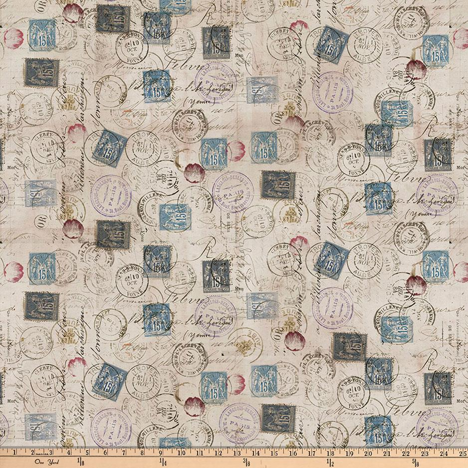 Transportation travel fabric fabric by the yard fabric tim holtz eclectic elements correspondence taupe gumiabroncs Images