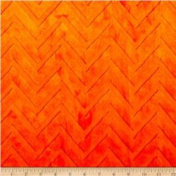Shannon Minky Embossed Chevron Cuddle Orange