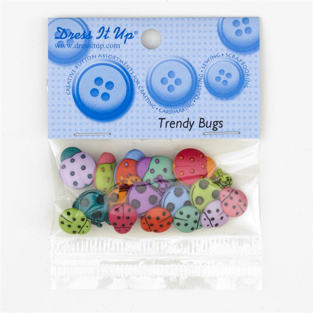 Dress It Up Embellisment Buttons  Trendy Bugs