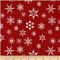 Riley Blake Holiday Snowflakes Red