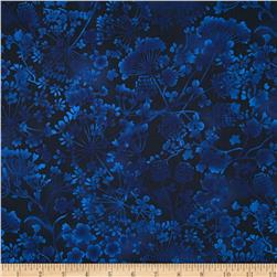 Natural Wonders Wildflower Silhouettes Navy