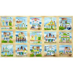 Seaside Village Craft Panel Multi
