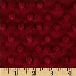 Minky Cuddle Dimple Dot Crimson Fabric
