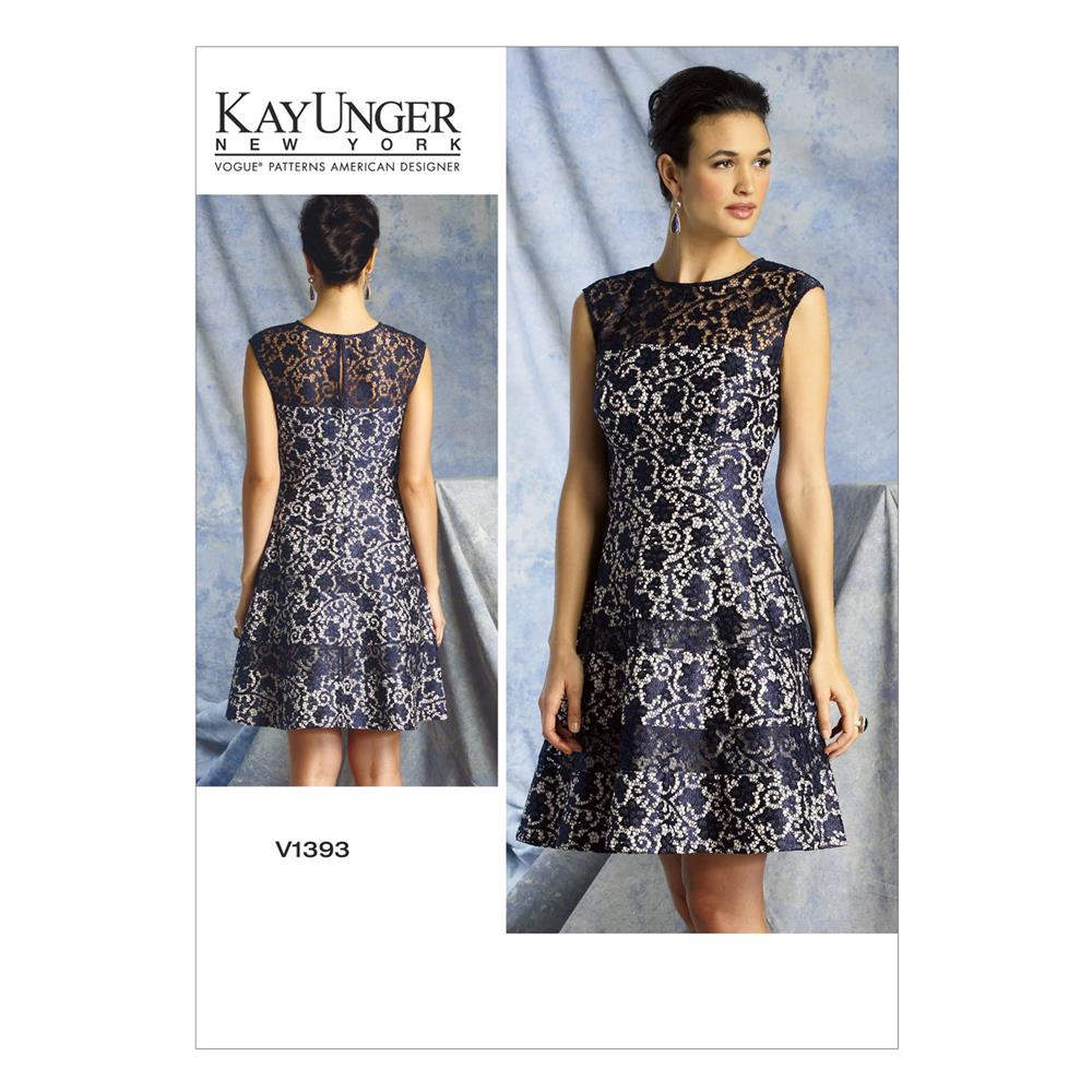 Vogue Misses' Dress Pattern V1393 Size A50