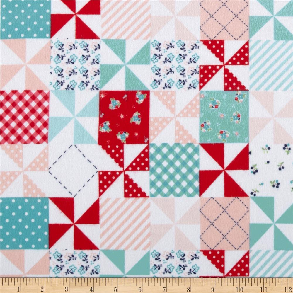 Riley Blake Country Girl Flannel Country Patchwork Aqua