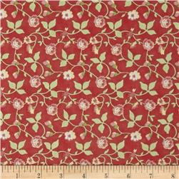 Moda Avalon Seaside Trellis Candy Apple Red