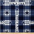 NFL Dallas Cowboys Plaid Fleece Blue/White