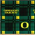 University of Oregon Fleece Plaid Green