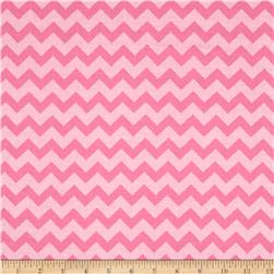 Chevron Tonal Pink/Light Pink Fabric