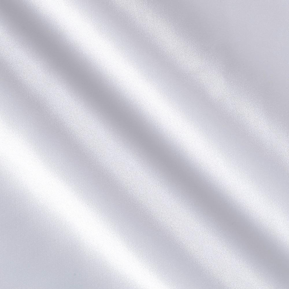 Stretch L'Amour Satin White Fabric