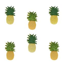 Dress It Up Embellishment Buttons  Pineapples
