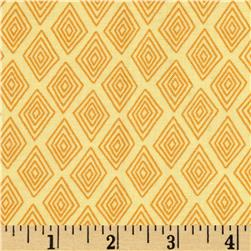 Monkey Mates Medium Diamonds Yellow Fabric