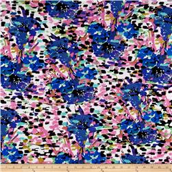 Liverpool Floral Dusty Blue