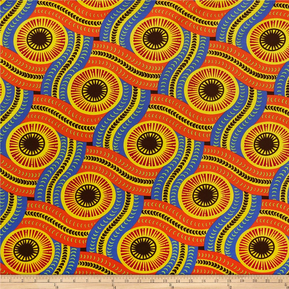 Shawn Pahwa African Print DTY Brushed Olothando Orange/Yellow