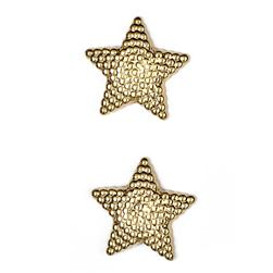 Metalized Button 1'' North Star Gold