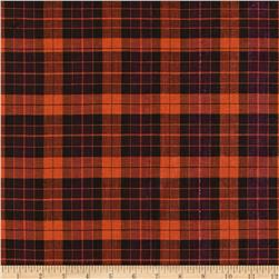 Holiday Blitz Large Plaid Black/Orange/Fuchsia Fabric