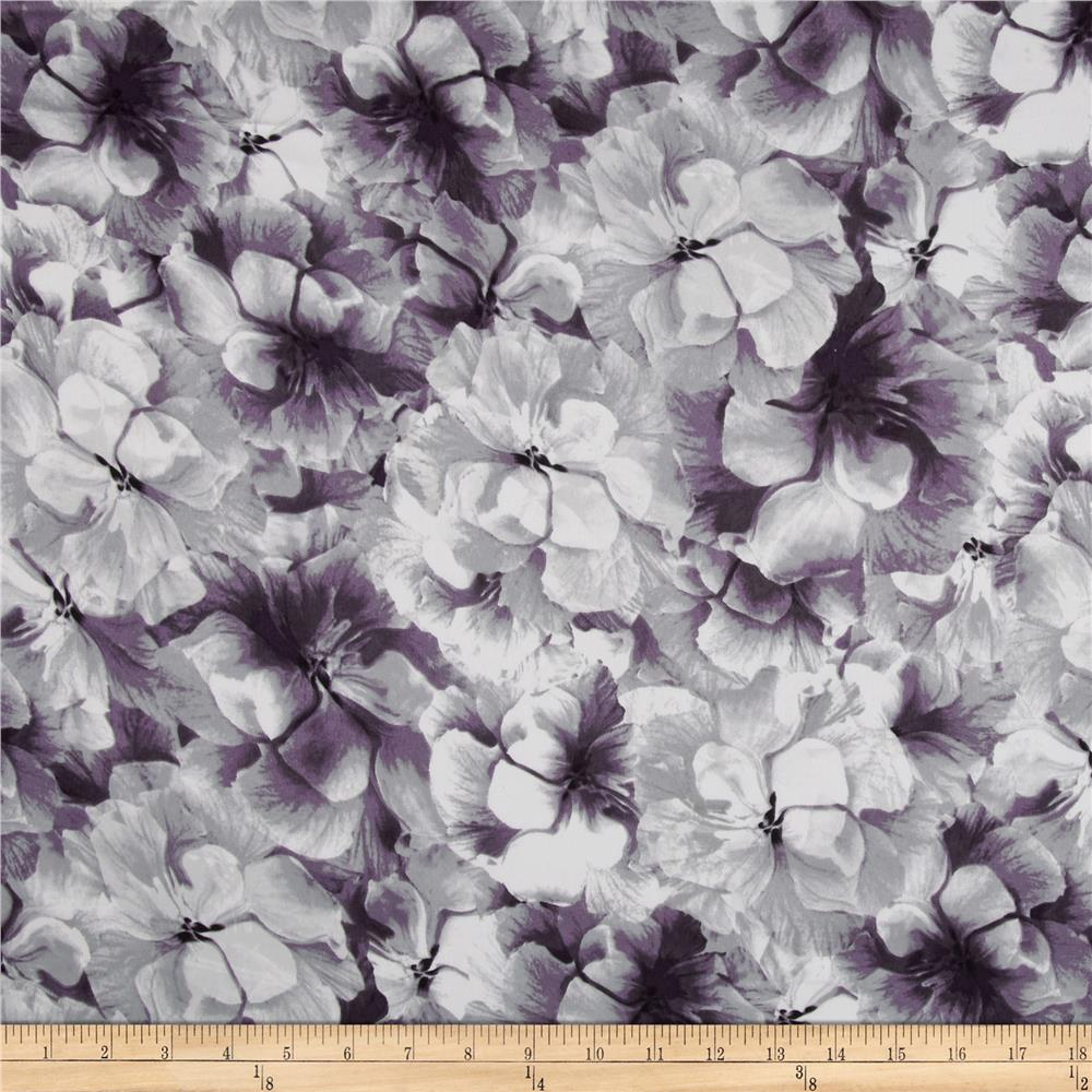 Chagall Crepe de Chine Floral Lilac/White