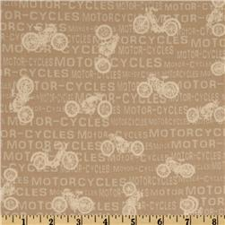 Vintage Motorcycles Words Natural