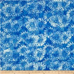 Island Batik Sunflower Light Blue