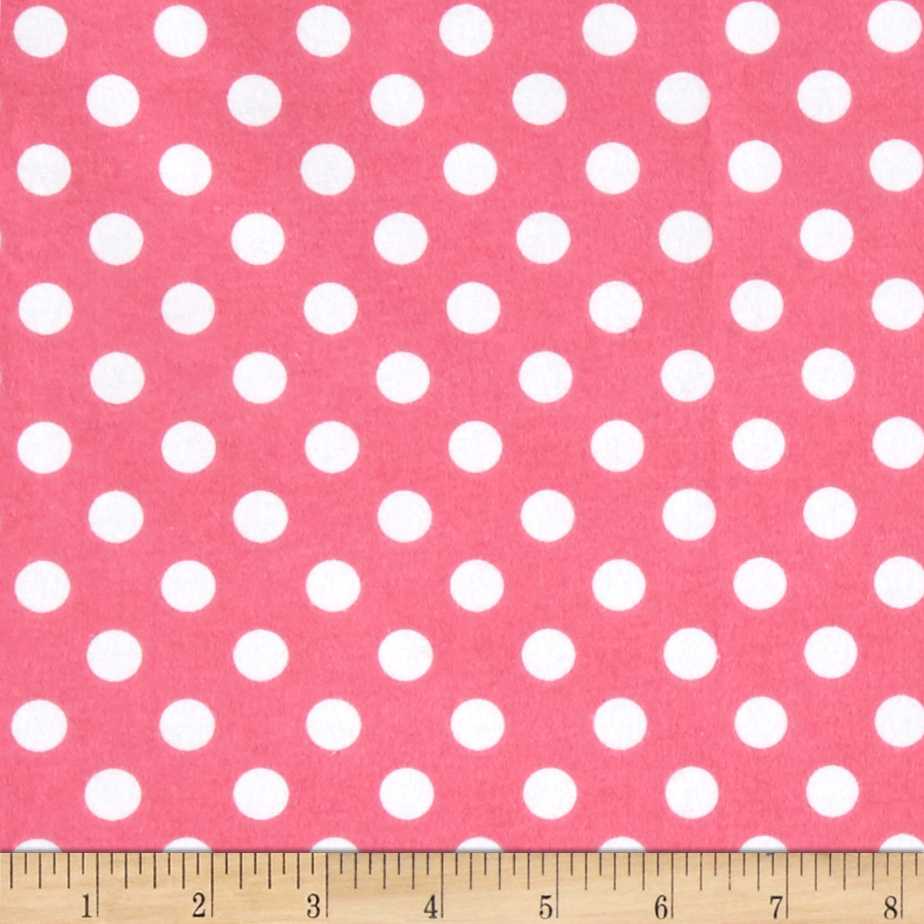 Comfy Flannel Dot Pink/White Fabric by A. E. Nathan in USA