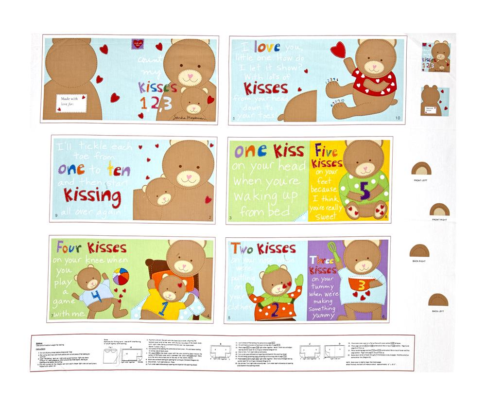 Huggable & Loveable Count My Kisses Soft Book 35.5'' Panel Multi Fabric
