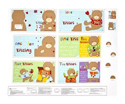 "Huggable & Loveable Count My Kisses Soft Book 35.5"" Panel Multi"