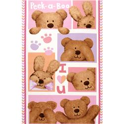 Peek-A-Boo Flannel Panel Pink