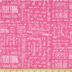 First Words Word Toss Pink