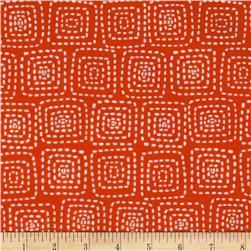 Michael Miller Stitch Floral Square Red Fabric