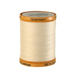 Gutermann Natural Cotton Thread 800m/875yds Egg White