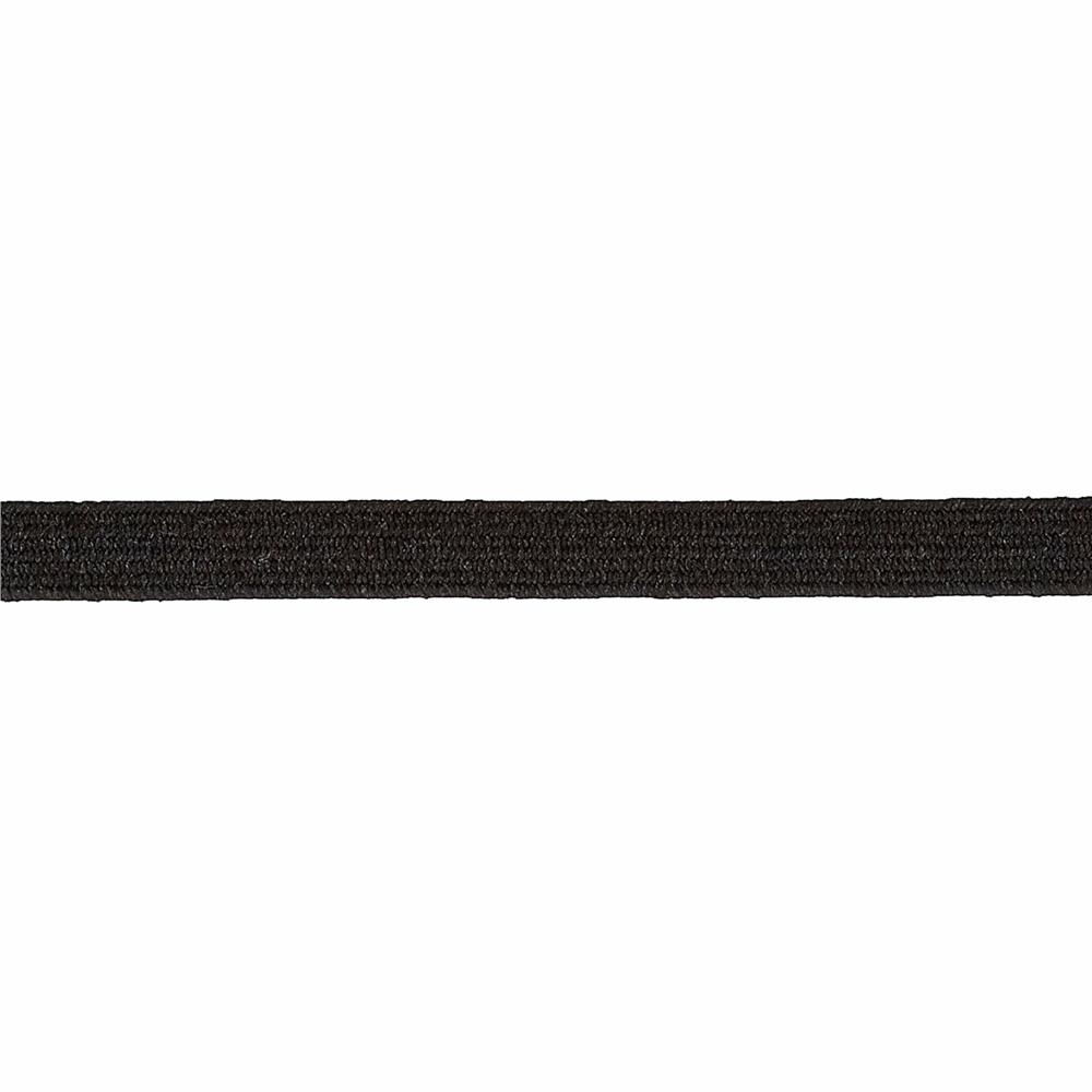 "1/4"" Braided Elastic Black- By the Yard"