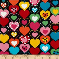 Kanvas Luv Bugs Heart Felt Black/Multi Fabric