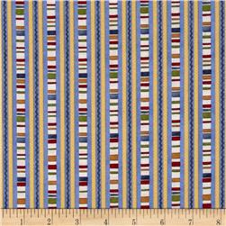 My Farmhouse Kitchen Decorative Stripe Blue/Multi