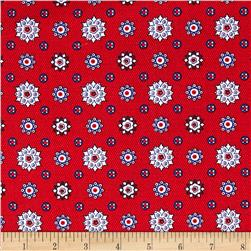 Prairie Yard Goods Mini Medallions Red