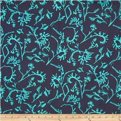 Field Day Tossed Vines Blue Fabric