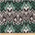 Anna Hatchi Knit Chevron Zig Zag Green