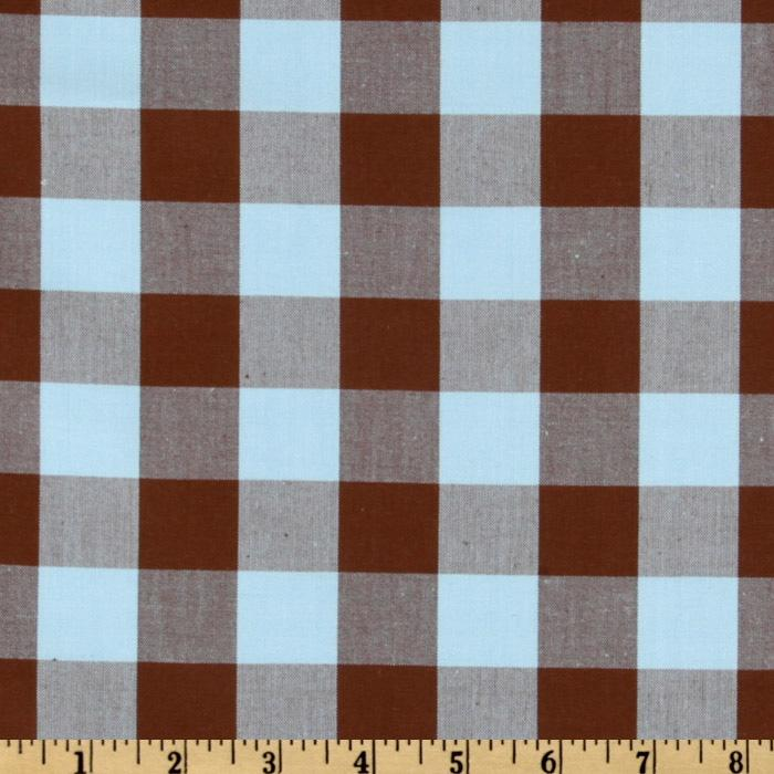 Kaufman 1'' Carolina Gingham Aqua