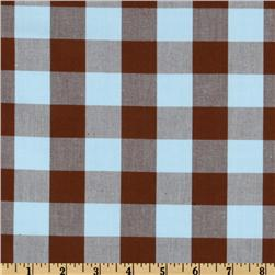 Woven 1'' Cotton Carolina Gingham Aqua
