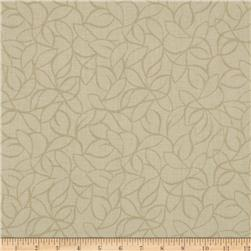"108"" Wide Quilt Back Windsor Leaves Cream"