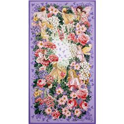 Michael Miller Flower Fairies Dreamland Fairy Dream Panel Blossom
