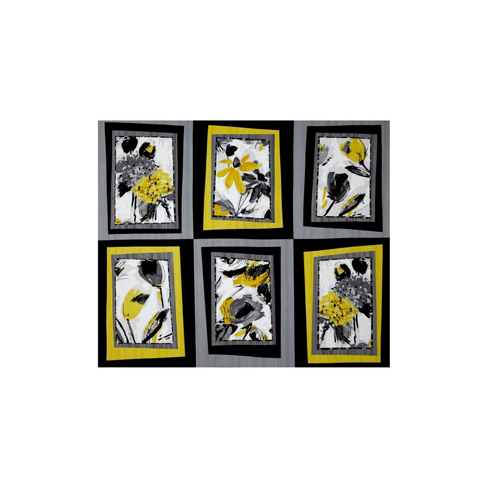 Contempo cosmopolitan picture frames 36 in panel yellow for Fabric picture frames