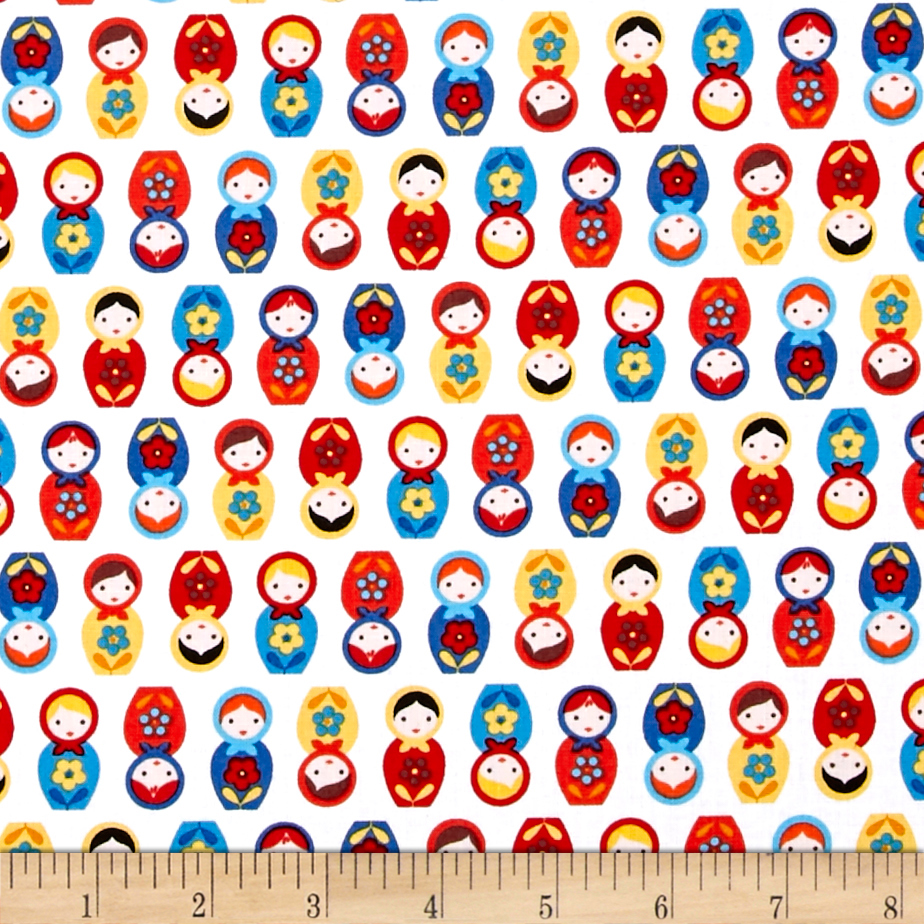 Kaufman Suzy's Minis Dolls Country Fabric 0453823