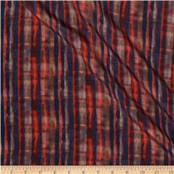 Liberty of London Torrington Silk Crepe de Chine Solsetur Red